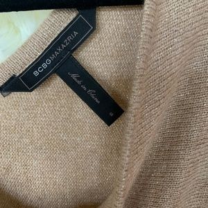 BCBGMaxAzria Sweaters - BCBGMaxAzria Tan V-Neck Sweater Women's Small
